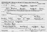 Levi Napoleon Lagasse registration card 1942