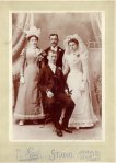 Lilly (Archambeault) Hall and  Joseph Albert Hall Wedding with William Archambeault