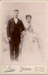 unknown young married couple