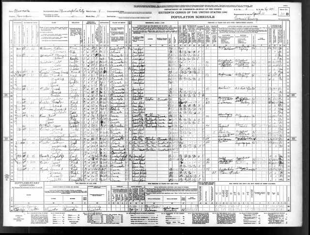 1940 US Census William Melanson